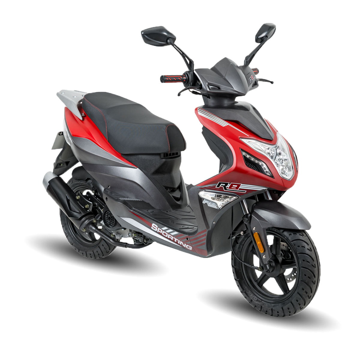 AGM R8 Mat Rood AAH Scooters