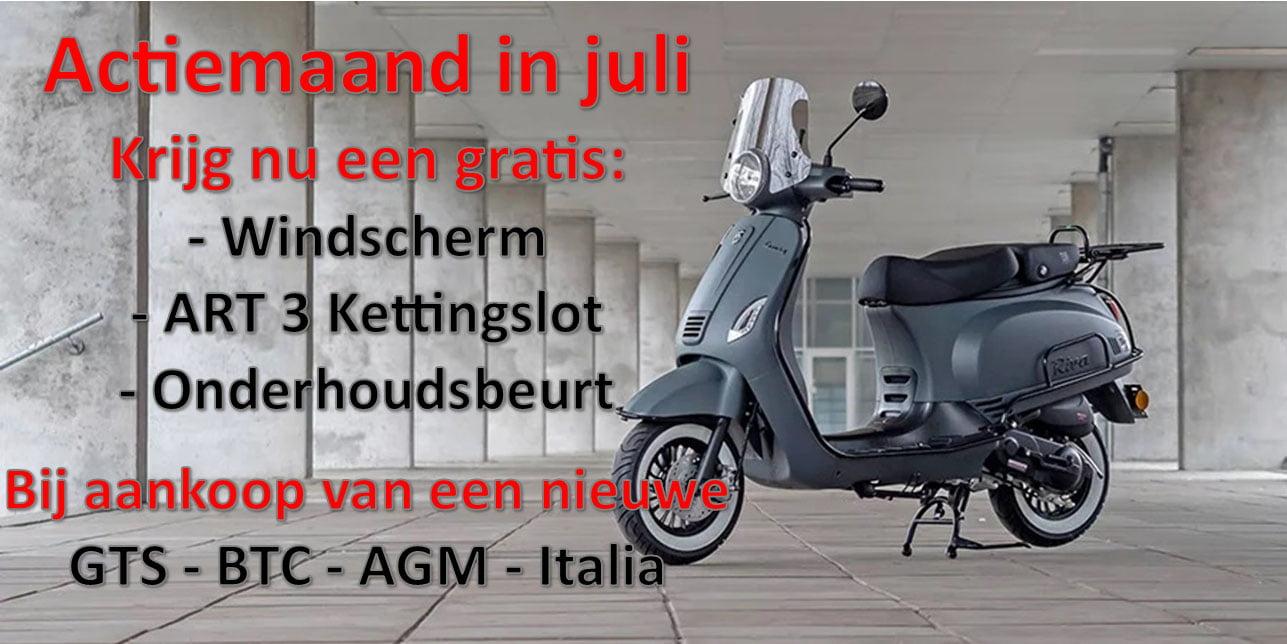 Actie AAHScooters Juli